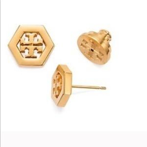 new Tory Burch stud earrings